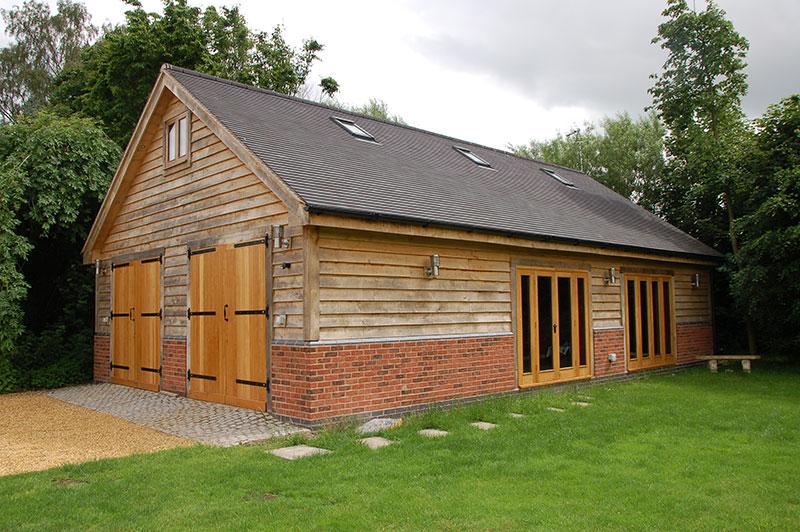 Double garage, garden store and gymnasium, Staffordshire